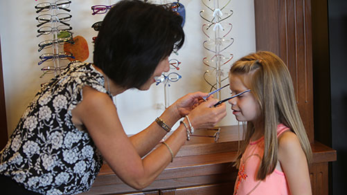 We have a wide array of frames specially suited for children of all ages.