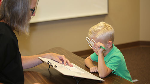 Conditions such as eye turns (strabismus), lazy eye (amblyopia), difficulties with depth perception, problems viewing 3D, eye teaming, double vision and more can very often be resolved with Vision Therapy.